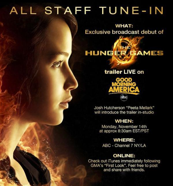 The Hunger Games Movie Trailer Premiere Info